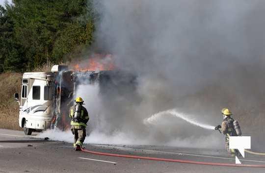Camper Fire Hwy 401 Cobourg Nov 2 2020005
