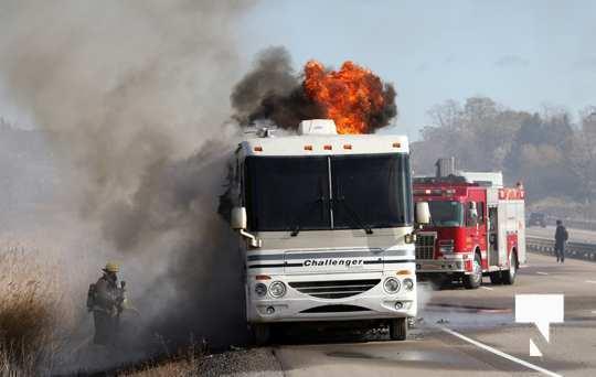 Camper Fire Hwy 401 Cobourg Nov 2 2020011