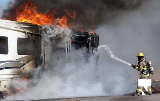 Camper Fire Hwy 401 Cobourg Nov 2 2020013