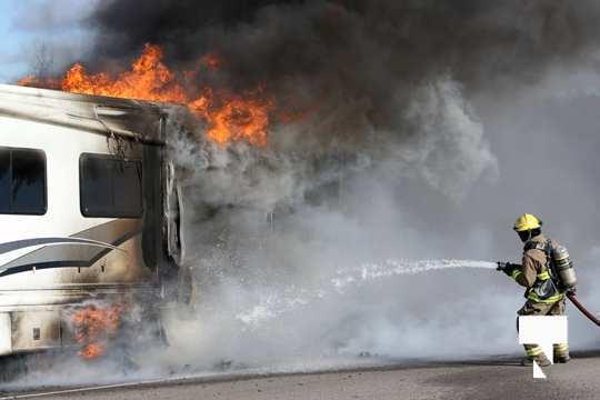 Camper Fire Hwy 401 Cobourg Nov 2 2020014