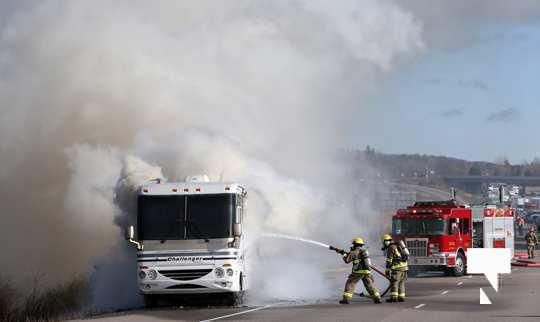 Camper Fire Hwy 401 Cobourg Nov 2 2020017