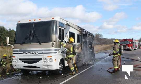Camper Fire Hwy 401 Cobourg Nov 2 2020029