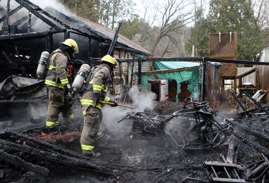 Garage Fire Hamilton Township December 3, 2020027