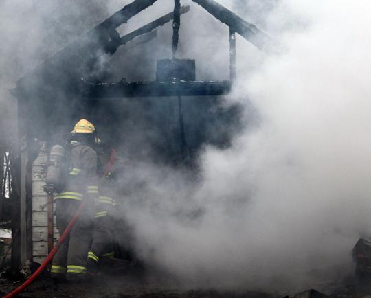 Garage Fire Hamilton Township December 3, 2020030
