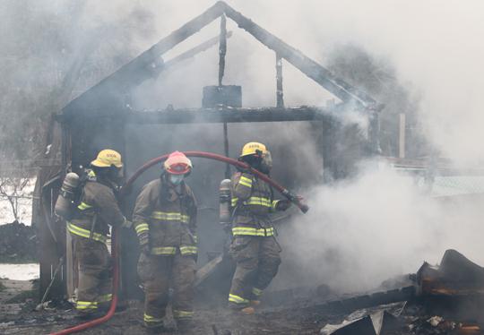 Garage Fire Hamilton Township December 3, 2020032