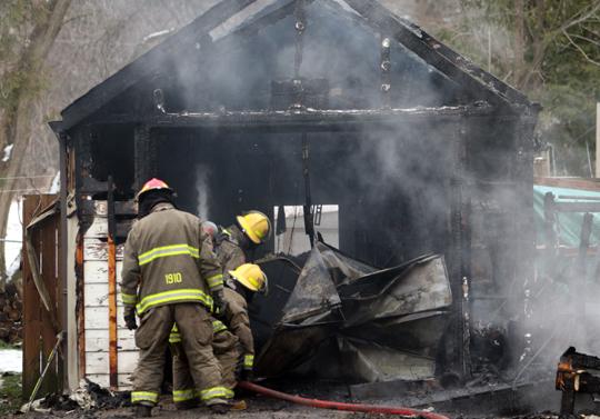 Garage Fire Hamilton Township December 3, 2020034