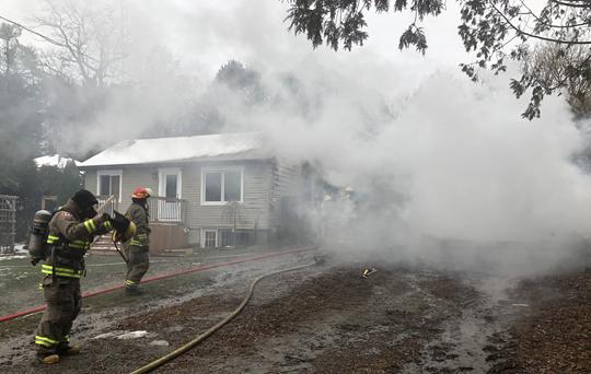 Garage Fire Hamilton Township December 3, 2020035