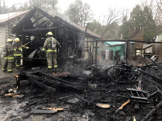 Garage Fire Hamilton Township December 3, 2020036