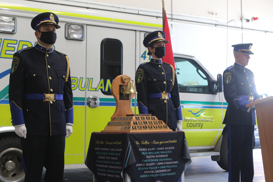 Northumberland County Paramedic Memorial Bell December 2,2020065