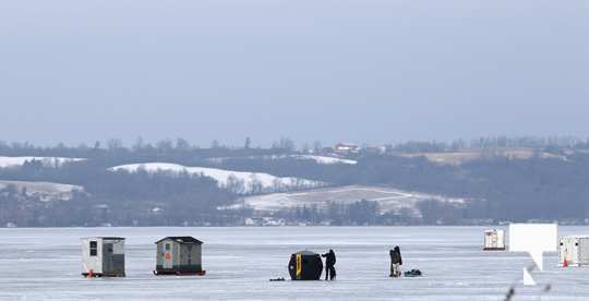 ice fishing Rice Lake January 16, 2021076