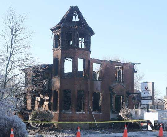 structure fire update Colborne January 23208, 2021