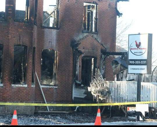 structure fire update Colborne January 23209, 2021