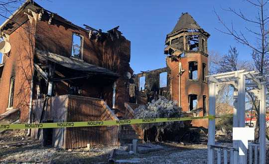 structure fire update Colborne January 23226, 2021