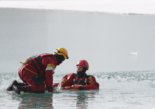 Ice Water Rescue Training Cobourg February 21, 2021130