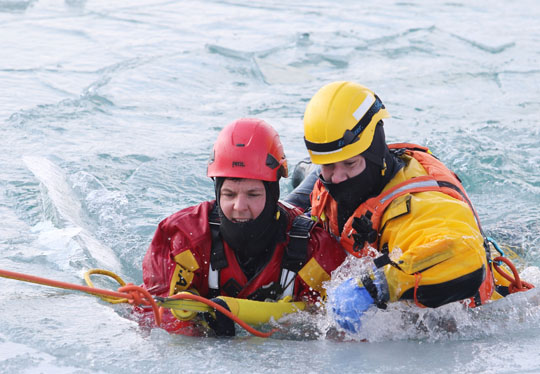 Ice Water Rescue Training Cobourg February 21, 2021138