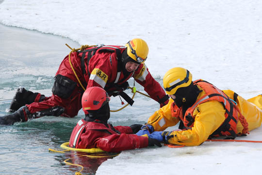 Ice Water Rescue Training Cobourg February 21, 2021141