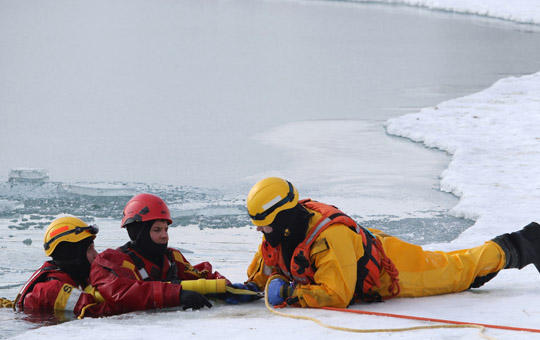 Ice Water Rescue Training Cobourg February 21, 2021142