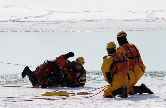 Ice Water Rescue Training Cobourg February 21, 2021143