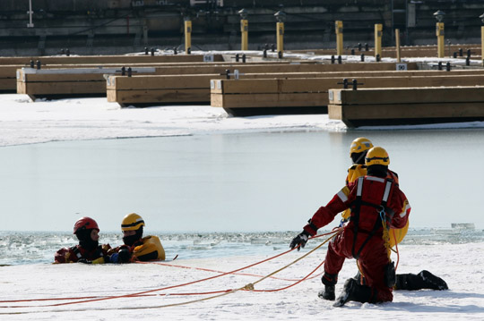 Ice Water Rescue Training Cobourg February 21, 2021144