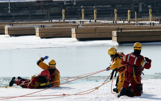 Ice Water Rescue Training Cobourg February 21, 2021145