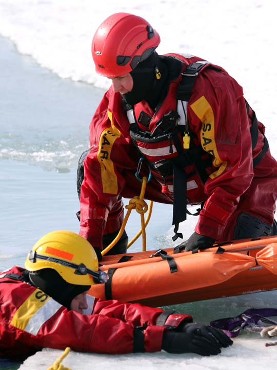 Ice Water Rescue Training Cobourg February 21, 2021149
