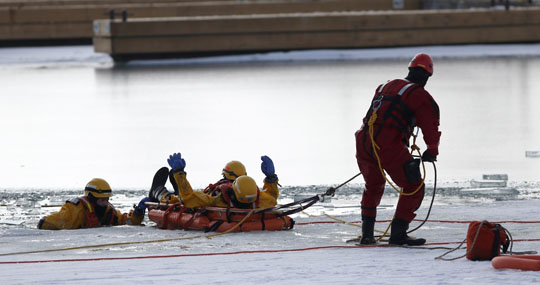 Ice Water Rescue Training Cobourg February 21, 2021160