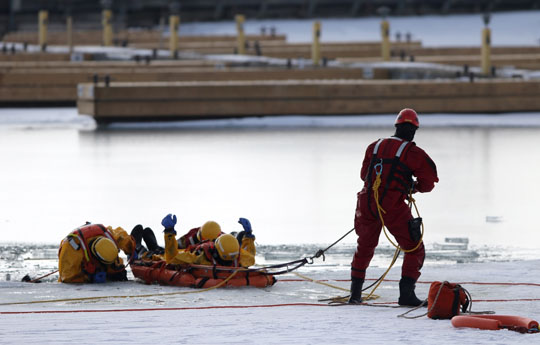 Ice Water Rescue Training Cobourg February 21, 2021161