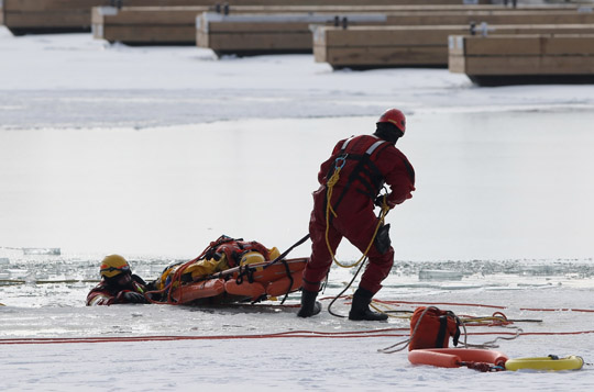 Ice Water Rescue Training Cobourg February 21, 2021162