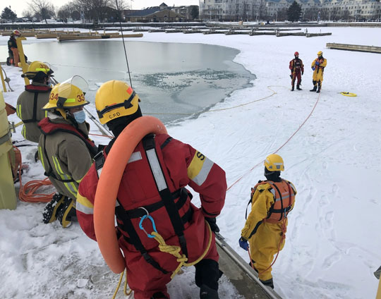 Ice Water Rescue Training Cobourg February 21, 2021165