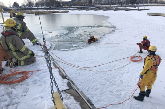 Ice Water Rescue Training Cobourg February 21, 2021166