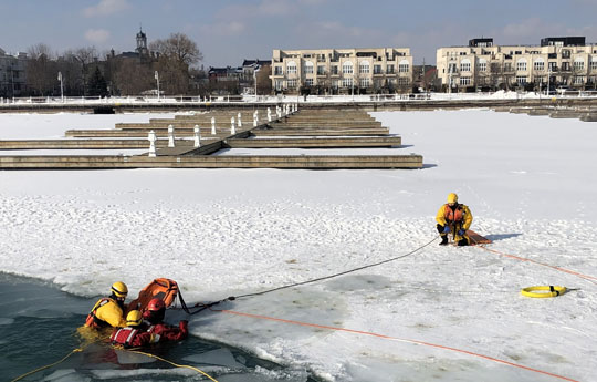 Ice Water Rescue Training Cobourg February 21, 2021169