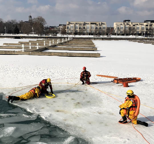 Ice Water Rescue Training Cobourg February 21, 2021170