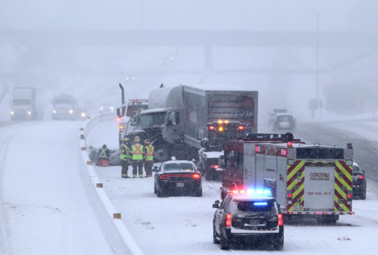 Jack Knifed Tractor Trailer Highway 401 Cobourg February 22, 2021194