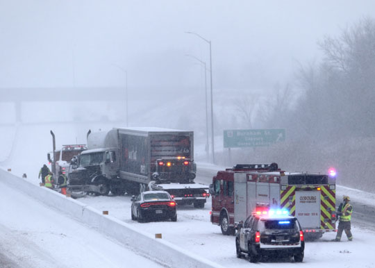 Jack Knifed Tractor Trailer Highway 401 Cobourg February 22, 2021195