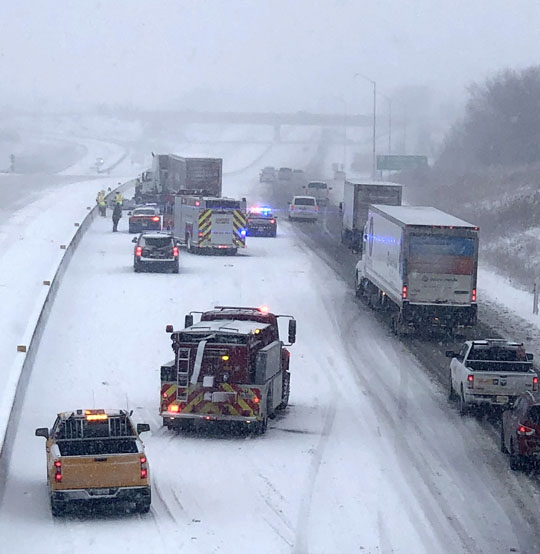 Jack Knifed Tractor Trailer Highway 401 Cobourg February 22, 2021199