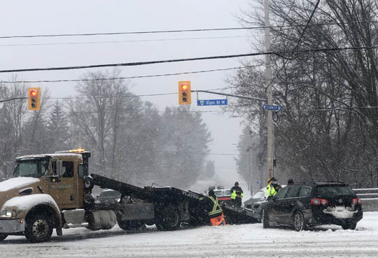 Jack Knifed Tractor Trailer Highway 401 Newtonville February 22, 2021206
