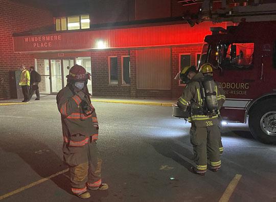 Smoke in hallway 330 King Street Eastl Cobourg, Arpil 4, 20211106
