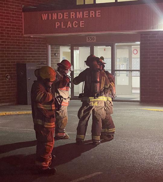 Smoke in hallway 330 King Street Eastl Cobourg, Arpil 4, 20211107