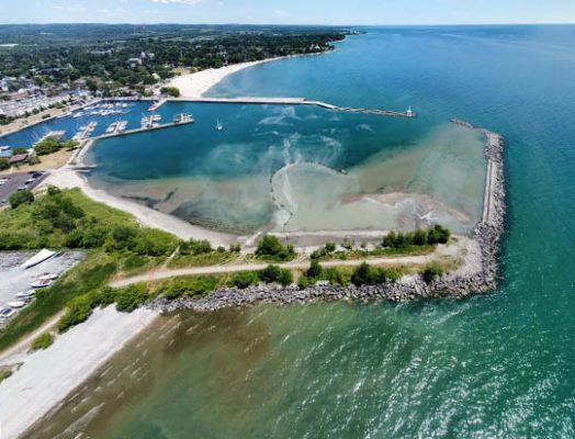 Aerial Cobourg Harbour June 17, 20213214