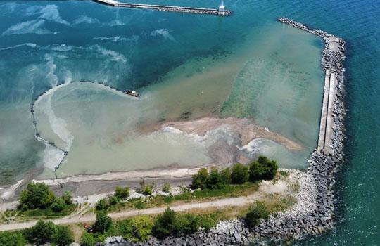 Aerial Cobourg Harbour June 17, 20213215