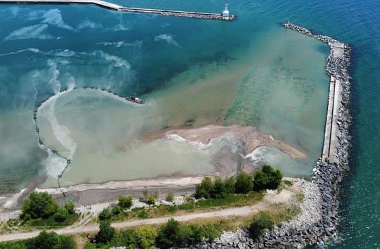 Aerial Cobourg Harbour June 17, 20213217