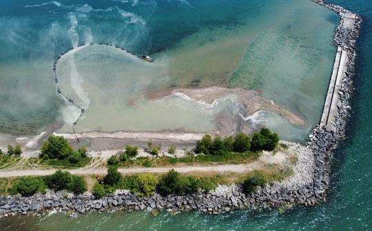 Aerial Cobourg Harbour June 17, 20213218