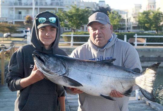 Huge Salmon Cobourg June 23, 20213325