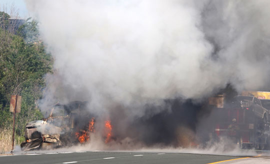 Transport Fire Highway 401 Colborne June 15, 20213144