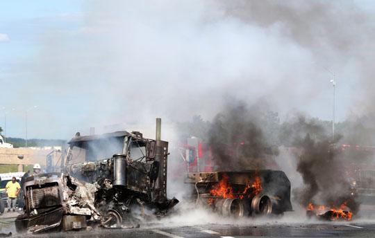 Transport Fire Highway 401 Colborne June 15, 20213145