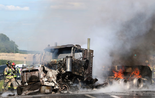 Transport Fire Highway 401 Colborne June 15, 20213147