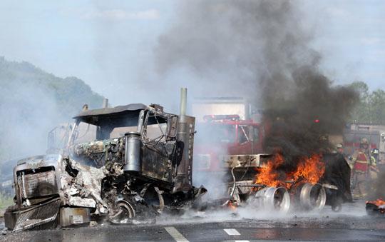 Transport Fire Highway 401 Colborne June 15, 20213148