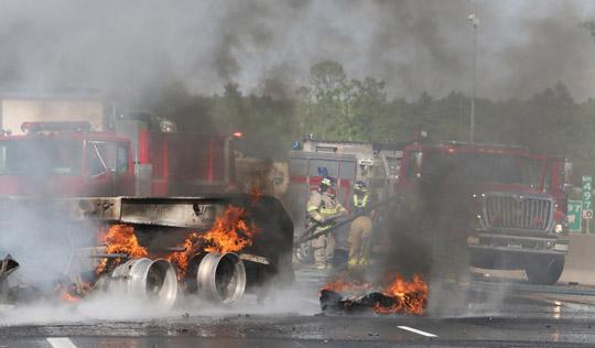 Transport Fire Highway 401 Colborne June 15, 20213149