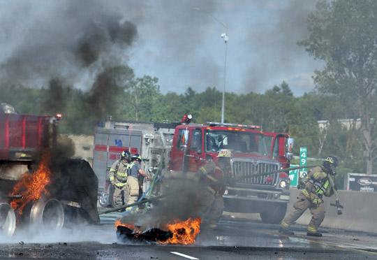Transport Fire Highway 401 Colborne June 15, 20213150