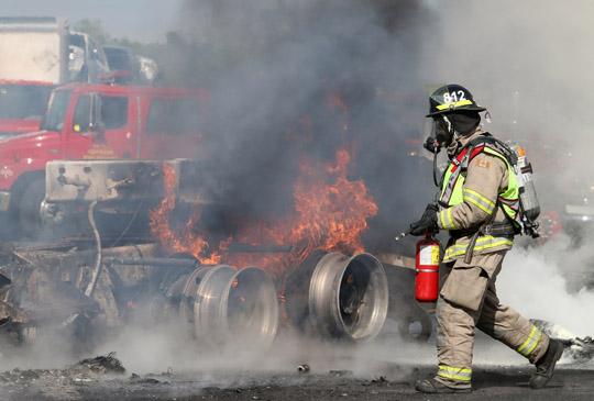 Transport Fire Highway 401 Colborne June 15, 20213153